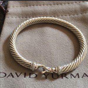 David Yurman 5mm Buckle Diamond Bracelet Medium